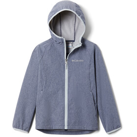 Columbia Rocky Range Softshell Jacke Mädchen nocturnal heather/cirrus grey zip and binding